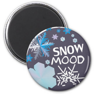 Humor de la nieve imán redondo 5 cm
