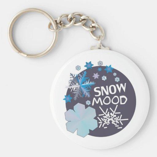 Humor de la nieve llaveros