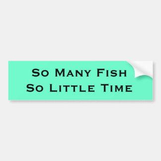 humor de la pesca pegatina para auto