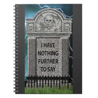 Humor de la piedra sepulcral libreta