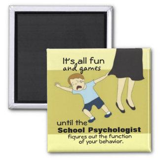 Humor de la psicología de la escuela (imán) imán cuadrado