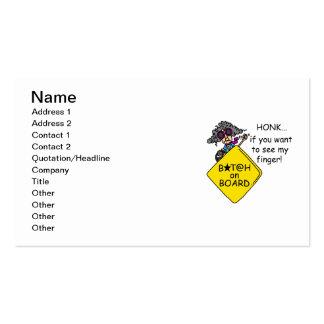 Humor de la rabia del camino plantillas de tarjetas personales
