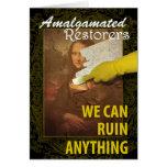 Humor de la restauración del arte tarjetas
