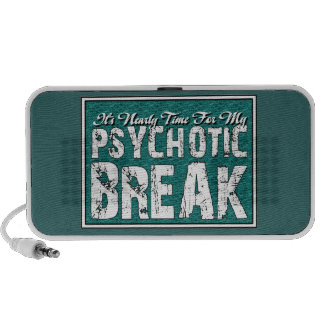 Humor de la salud sicopática y mental iPod altavoz