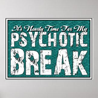 Humor de la salud sicopática y mental poster