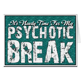 Humor de la salud sicopática y mental tarjeta pequeña