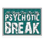 Humor de la salud sicopática y mental tarjeta postal