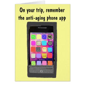 Humor de la tecnología para el buen viaje de las tarjeta pequeña