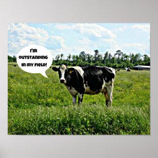 Humor de la vaca impresiones