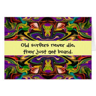 humor de las personas que practica surf tarjeta de felicitación