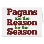Humor de las vacaciones de los Pagans Felicitación