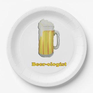 Humor de los amantes de la cerveza plato de papel de 9 pulgadas