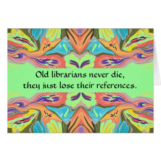 humor de los bibliotecarios tarjeta de felicitación