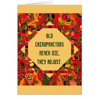 humor de los chiropractors tarjeta de felicitación