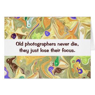 humor de los fotógrafos tarjeta de felicitación