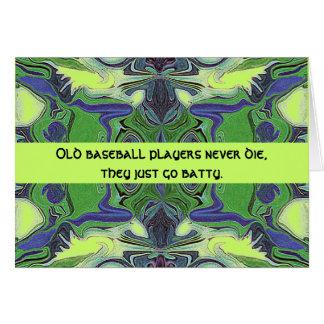 humor de los jugadores de béisbol tarjeta de felicitación