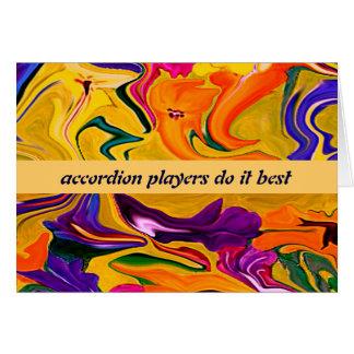 humor de los jugadores del acordeón felicitación