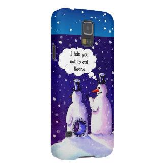 Humor de los muñecos de nieve carcasas para galaxy s5