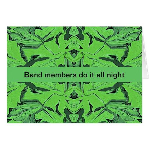 humor de los músicos tarjeta de felicitación