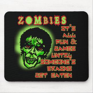 Humor de los zombis alfombrillas de ratones