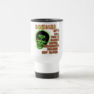 Humor de los zombis taza de café