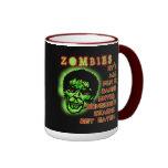 Humor de los zombis tazas de café