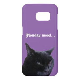 Humor de lunes del gato de la casamata de la funda samsung galaxy s7