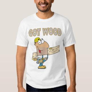 humor de madera conseguido del carpintero diseño playeras
