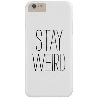 Humor de moda moderno blanco negro extraño de la funda de iPhone 6 plus barely there
