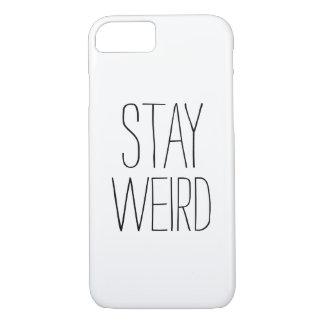 Humor de moda moderno blanco negro extraño de la funda iPhone 7