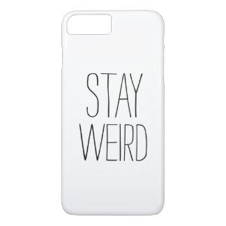Humor de moda moderno blanco negro extraño de la funda iPhone 7 plus