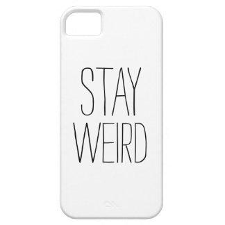 Humor de moda moderno blanco negro extraño de la funda para iPhone SE/5/5s