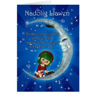 Humor de Nadolig Llawen de la tarjeta de Navidad G