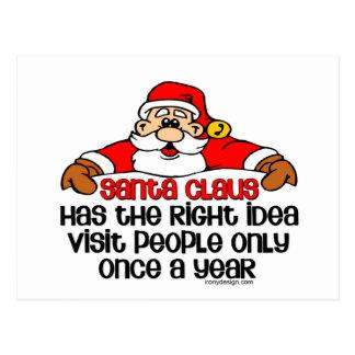 Humor de Santa Tarjetas Postales