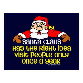 Humor de Santa Tarjeta Postal