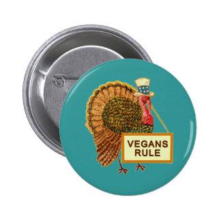 Humor de Turquía de la regla de los veganos para l Pins