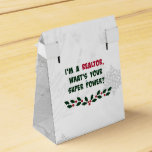 Humor del agente inmobiliario, colores del día de cajas para detalles de boda