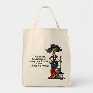 Humor del ama de casa bolsa de mano