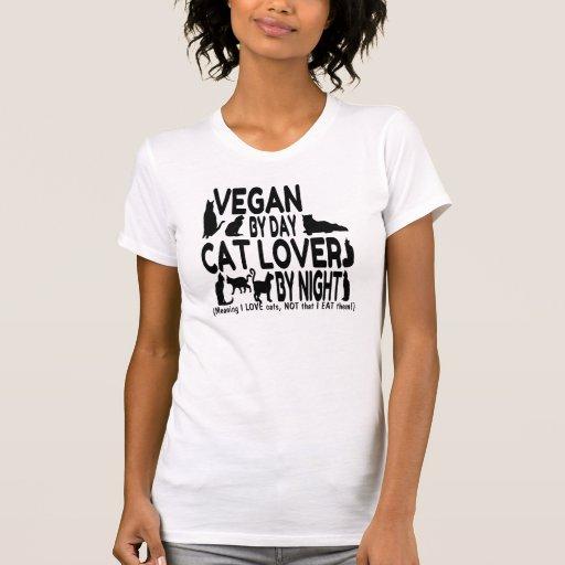 Humor del amante del gato del vegano t shirt