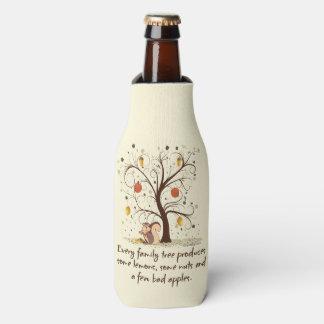 Humor del árbol de familia enfriador de botellas