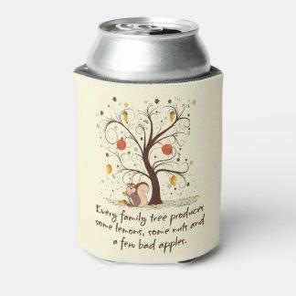 Humor del árbol de familia enfriador de latas