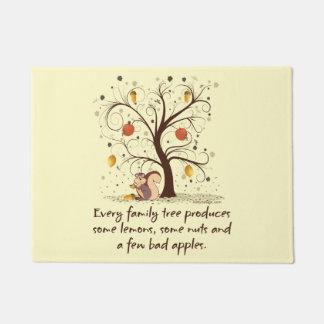 Humor del árbol de familia felpudo