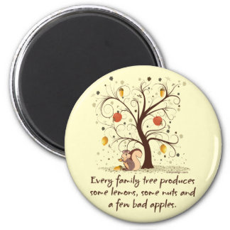 Humor del árbol de familia iman de nevera