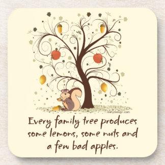 Humor del árbol de familia posavasos