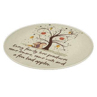 Humor del árbol de familia tablas para cortar