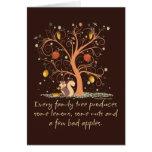Humor del árbol de familia tarjeta de felicitación