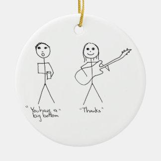Humor del bajista usted tiene una parte inferior g adornos