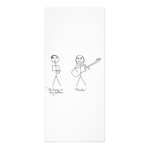 Humor del bajista usted tiene una parte inferior g tarjetas publicitarias personalizadas