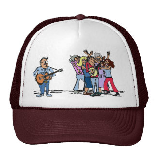 Humor del banjo del Bluegrass Gorros Bordados