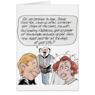 Humor del boda tarjeta de felicitación